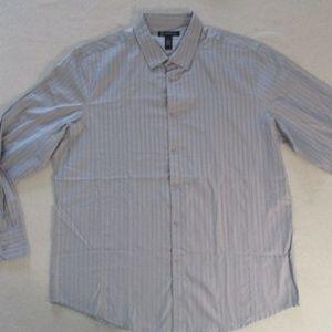 INC Men Shirt XL Gray Long Sleeves